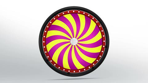 Black fortune wheel of candy style 4K 애니메이션