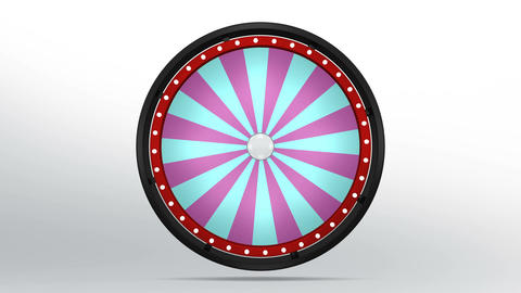 Black fortune wheel of 24 area purple blue 4K Animation