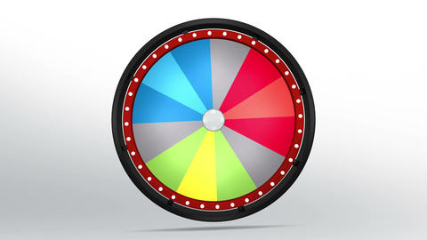Black fortune wheel of 12 area 4K Animation
