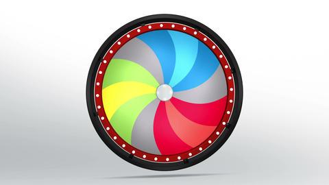 Black fortune wheel of 12 area twirl 4K Animation