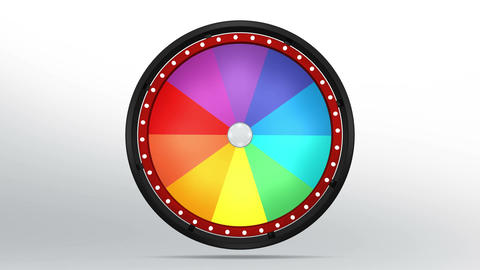 Black fortune wheel of 10 area 4K Animation