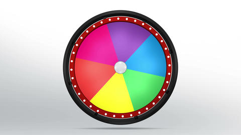 Black fortune wheel of 6 area 4K Animation