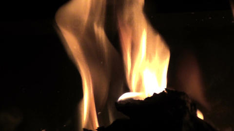 Close up of Flames in a Stove GIF