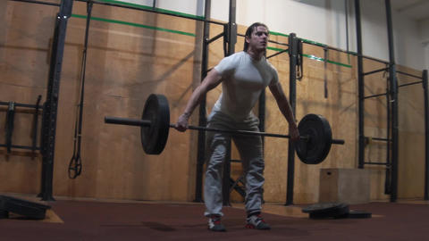 Slow Motion Man Lifting Weights, Crossfit Footage