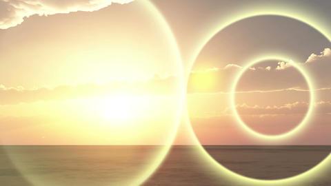 4k sunrise sunshine light panoramic,wilderness desert land cloud nature sunset Footage