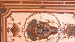 painting on the ceiling - historic interior - art Footage