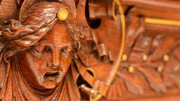 wooden decoration - interior - portrait Footage