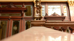 Decorative Handrail - A Historic Building (interior) stock footage