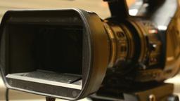 television cameras - cameraman set camera (studio) - historic interior in backgr Live Action
