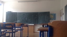 school class - empty with board Footage