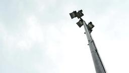 pole with lights - playground Footage