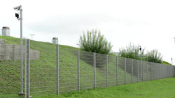 safety fence with cameras Footage