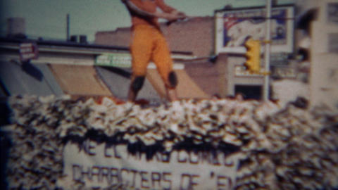 1952: Greeley Blasts Central football player parade float Footage