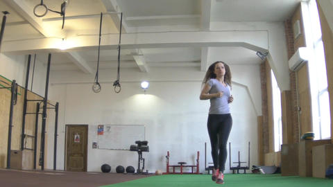 Explosive Functional Fitness, Girl Training In Gym Footage
