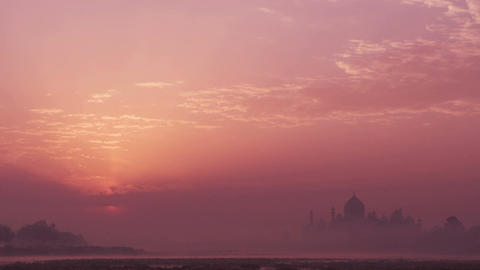 Taj Mahal Sunrise 4k Animation