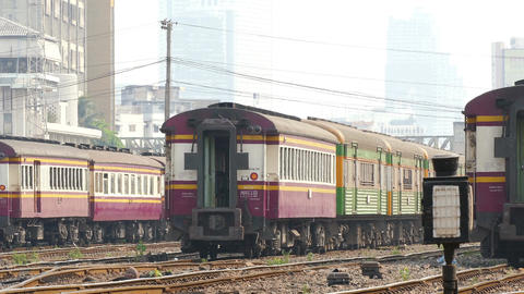 Thailand Bangkok Asia Trains Transportation 4K Footage