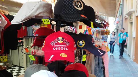 Monaco Monte-Carlo Grand-Prix Caps On Display Footage