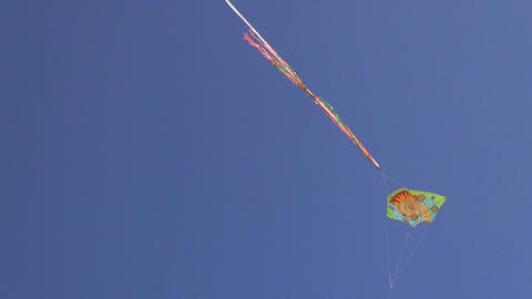 Kite flying high in the sky Footage