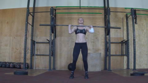 Woman Lifting Weights, Crossfit Footage