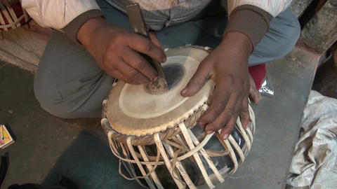 Tabla drum master, Varanasi, India Footage