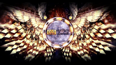 Epic Metal wings logo (Gold) After Effects Template