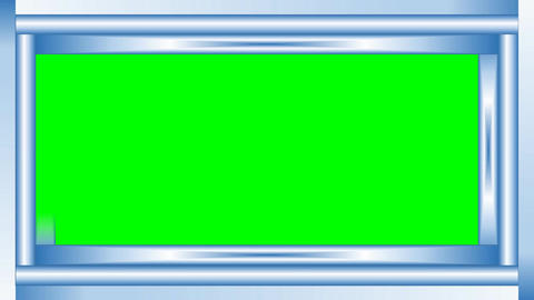 Video frame silver metallic strips on green matte, gradually rendering parts of  Animation