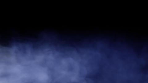 Smoke Background Loop with alpha - Dark Blue Smoke Animation