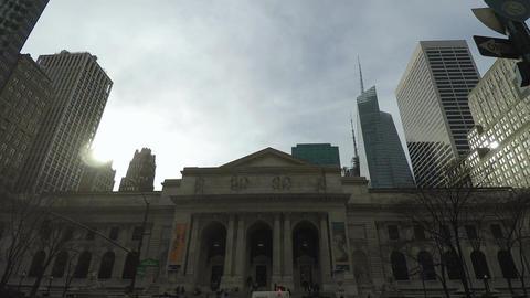 New York, USA The New York Public Library Main Branch facade Image