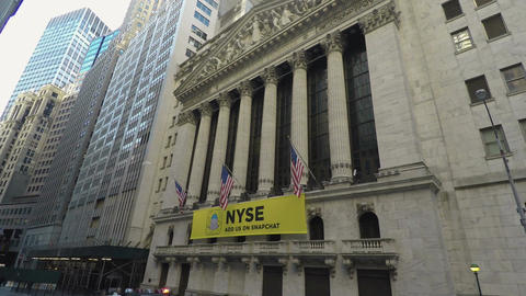 New York, USA The New York Stock Exchange facade, NYCE day view Footage