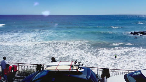 Car With Surfboards On The Roof Footage