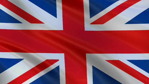 Flag of England waving in the wind Image