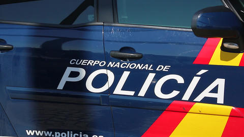 Blue Spanish National Police Car