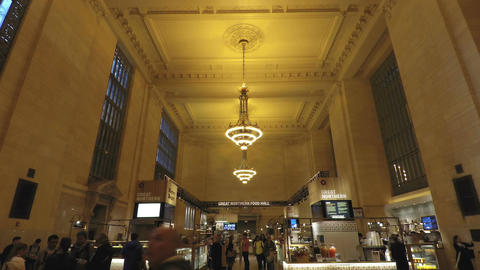 New York, USA Great Northern Food Hall in Grand Central Station ビデオ