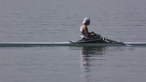 Rowing Championship Single Man Footage