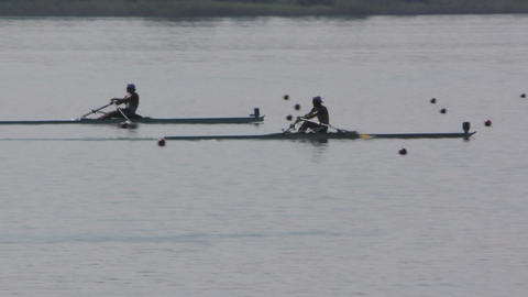 Rowing Championship Single Man Race Live Action