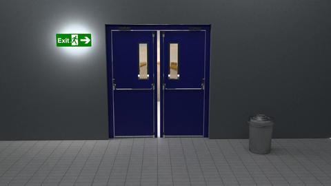 Exit door Stock Video Footage