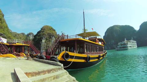Ha Long Bay pan timelapse Footage