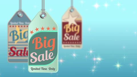 Vintage style sale tag Big Sale, animation 4K CG動画素材
