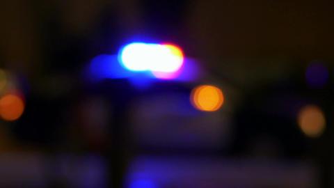 Defocused police car MS 1 Live影片