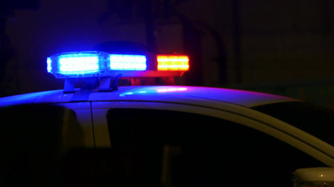 Police car siren flashing 1 Live影片