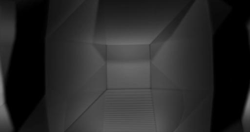 Black and White Low Poly geometric waving background Animation