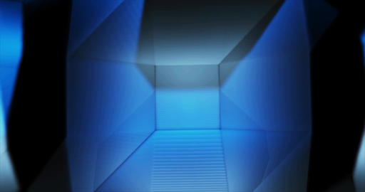 Blue Emerald Low Poly geometric waving background Animation