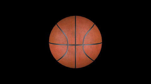 Animation basketball with alpha channel CG動画素材