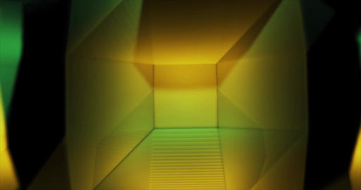 Gold Emerald Low Poly geometric waving background Animation