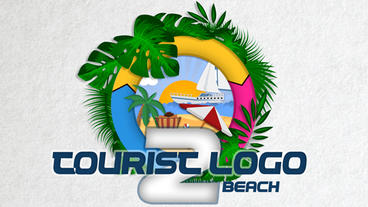 Tourist logo 2 beach Plantilla de Apple Motion