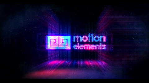 Glitch Neon Logo (7 sec) After Effects Template