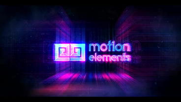 Glitch Neon Logo ME (10 Sec) After Effects Template