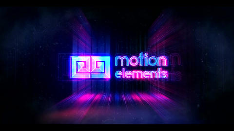 Glitch Neon Logo (10 Sec) After Effects Template