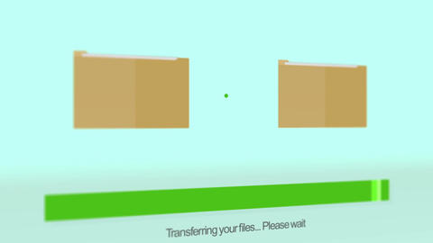 Computer Folder Copy on modern screen - Side Angle Animation