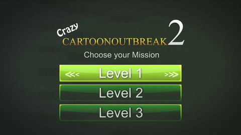 A generic game interface of a mission select screen for a... Stock Video Footage